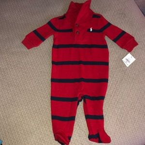 Ralph Lauren sweater one piece footie outfit 3 mos